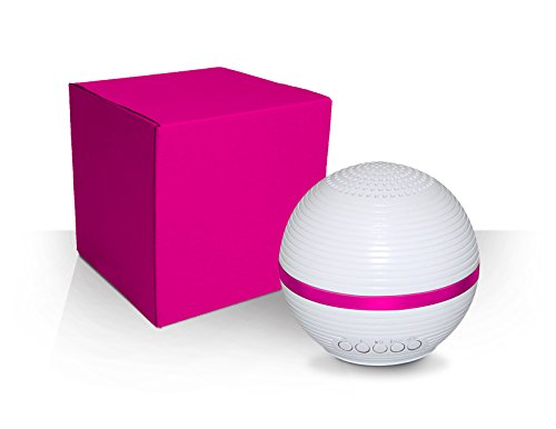 Electro BT Bluetooth Light Up LED Portable Rechargeable Speaker with Pulse Lighting 10 Mode Technology (Pink)