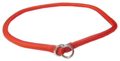 Hamilton 3/8 Inch x 26 Inch Round Braided Choke Nylon Dog Collar, Red (832 RD), My Pet Supplies