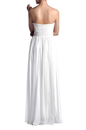 Adorona Natrual Formal A-line Strapless Long Chiffon Modest Bridesmaid Dress for Wedding