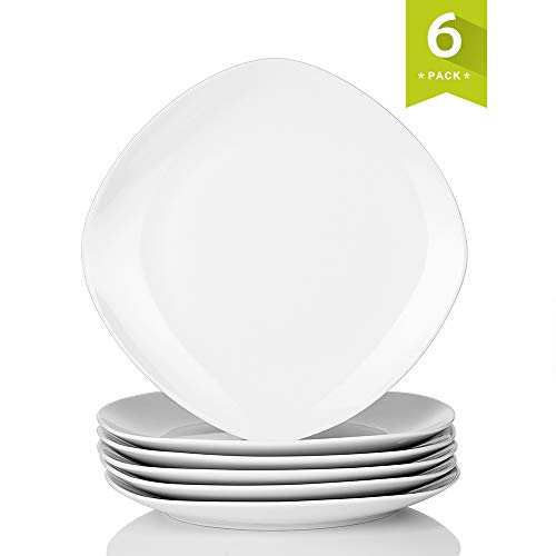 - Malacasa 6-Pack 9.75 Inch Ceramic Dinner Plates Porcelain Dessert Dishes Dinnerware Set, Series Elisa