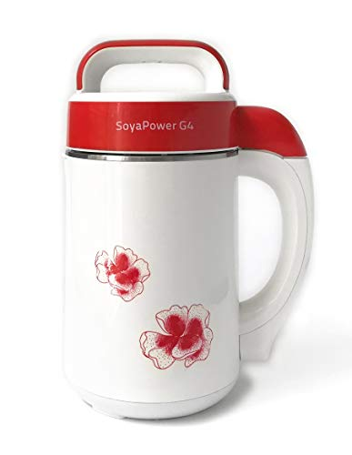 Soyapower G4 Soy Milk Maker, Almond Milk Maker, Rice Milk Maker, and Soup Maker - New Model All Stainless Steel Inside