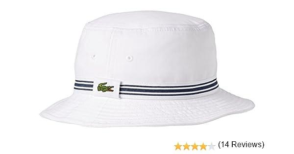 Lacoste RK3741 Sombrero de Sol, Blanco (Blanc), Medium (Talla del Fabricante: M) para Hombre: Amazon.es: Ropa y accesorios