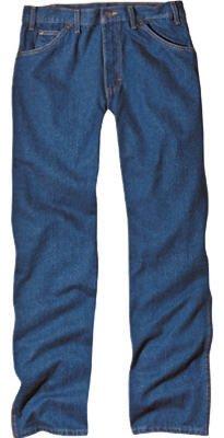 Wide Leg Dickies (Dickies Men's Regular Fit Five-Pocket Jeans Rinsed Indigo Blue 38 32)