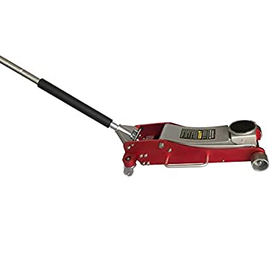 TRIL GEAR 3 Ton (6,000 lb) Aluminum Steel Car Auto Floor Jack Low Profile Rapid Pump Lift Red
