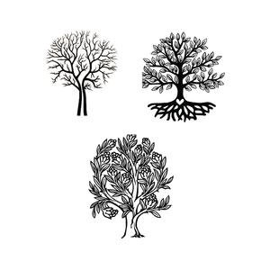 Delphi Trees Black Enamel Decals [Office - Decal Fusible Black Enamel