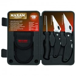 Maxam® Pro Series 3pc Knife Set in Blow-Molded Case (Maxam Pro Series compare prices)