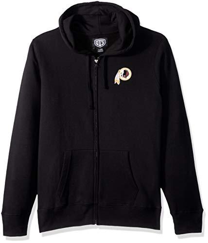 NFL Washington Redskins Female OTS Fleece Full-Zip Hoodie, Jet Black, X-Large