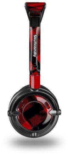 (Red Plaid Decal Style Skin fits Skullcandy Lowrider Headphones (HEADPHONES SOLD SEPARATELY))
