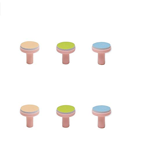 Nail Trimmer Replacement Heads - Replacement Pads for Electric Baby Nail Trimmer - Jaybva 6PCS Grinding Heads Polish Disc for Standard Nail File Clippers Filer Cutter Grooming Kit Pink