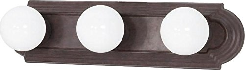 Nuvo 60/304 Three Light Vanity Strip, Old Bronze, 18-Inch