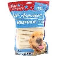 PET FACTORY 78107 5-Inch Chip Rolls Chews for Dogs, 22-Pack (Rawhide Puppy Roll)