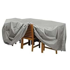 Deluxe para mesa ovalada y funda para silla.