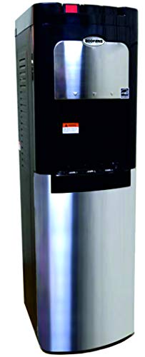 ECOFRAM Stainless Steel Cabinet Bottom Load Hot, Cook and Cold Water Cooler Dispenser, Commercial Series, Baby Lock, Energy - Load Dispenser Water Bottom