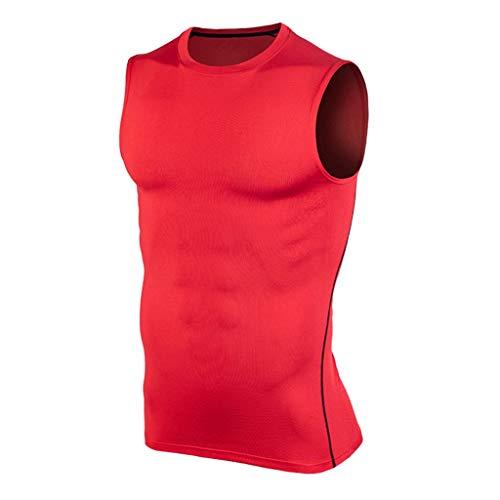 Fast-Drying Tights,Tronet Men'sFitness Sleeveless Rashguard T-Shirt Bodybuilding Skin Tight-Drying Tops