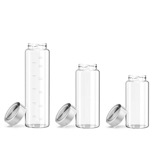 Zenbo Glass Water Bottle 32oz, 100% Borosilicate Glass BPA-Free for to-Go Travel at Home Reusable Safe for Hot Liquids Tea Coffee Daily Intake Drink