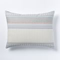 West Elm | Organic Nordic Stripe Jacquard |  Standard Shams