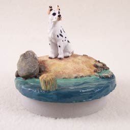 Conversation Concepts Miniature Great Dane Harlequin Candle Topper Tiny One ''A Day on the Beach'' by Conversation Concepts