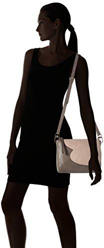 Tosca Blu My Giselle - Borse a secchiello Donna, Mehrfarbig (Grey/mauve), 10x19x25 cm (B x H T)