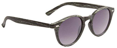 Wayfarer Rounded Faux Woodgrain Modern Classic Sunglasses (Moss - Wayfarer Rounded