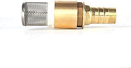 1 Brass Foot Valv iMiMi Robinet /à pied 1 pi/èce BSP en laiton pour valve anti-retour avec embout de tuyau de 22 mm pour pompe