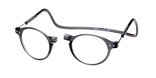 a0d85824c90 Clic Magnetic Reading Glasses Brooklyn in Grey +1.25