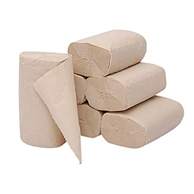 Paper Towels- Toilet Paper Roll, Natural Wood Pulp 4-Layer Thickened Household Paper Soft Skin-Friendly Roll Paper- Eco Friendly, Biodegradable, No Odor, 10 Roll Packs: Kitchen & Dining