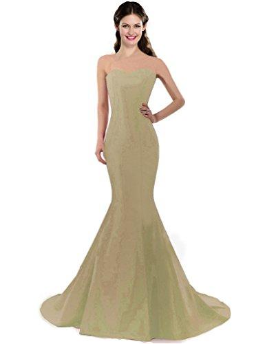 Ma Chérie Champagne Couleur Coloredress Robes Épaule E Robe Sirène Une Des Femmes De Bal De Fête De Mariage Longue Robes Formelles