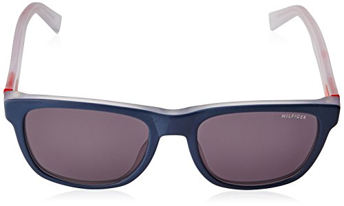 Sol Red Hilfiger 53 TH Y1 Adulto Gafas Tommy Bluee Crystal Unisex S de 1360 7qaCw0