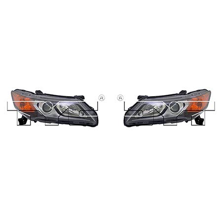 Fits 2013-2015 Acura ILX Headlight Driver and Passenger Side NSF Certified w/Bulbs AC2502121 AC2503121 - Replaces 33150-TX6-A02, 33100-TX6-A02 ;HYBRID; Halogen