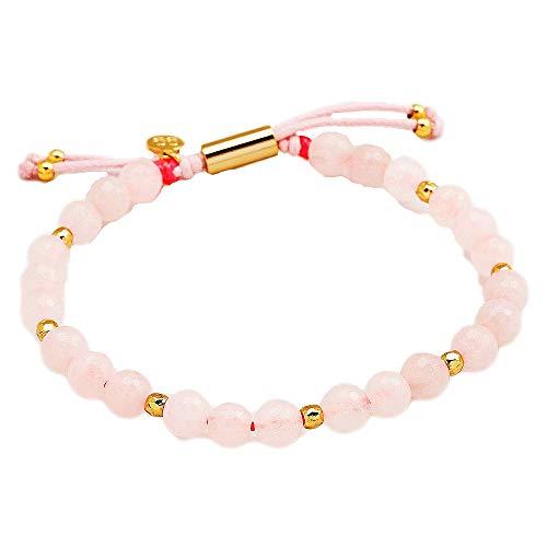 (Gorjana Power Gemstone Rose Quartz Beaded Bracelet For Love 17120531SPKG)