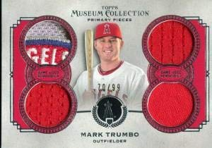 (Mark Trumbo Unsigned 2013 Topps Museum Collection Jersey Card - Baseball Game Used Cards)
