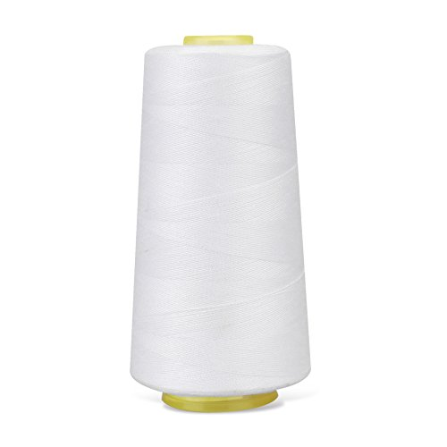 Polyester Sewing Thread Used for Quilting Serger Overlock All Purpose Connecting Threads for Sewing Machine and Hand Repair Works 3000 Yards
