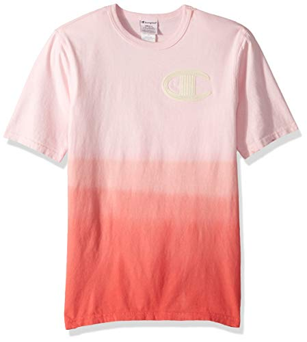 Champion LIFE Men's Ombre Dip Dye Heritage Tee, Scarlet, Medium