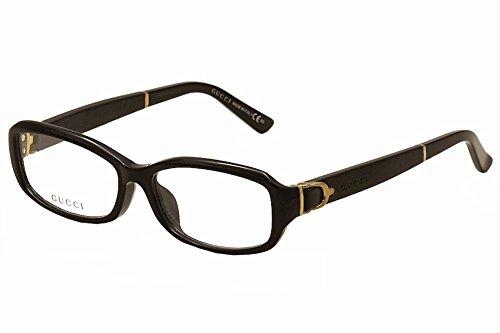 Gucci Eyeglasses 3667/F 3667F 75Q Black Leather Optical Frame 53mm (Asian - Eyeglasses Asian