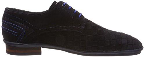 Floris Van 14058 Blue Blu Scarpe Stringate Uomo dark Bommel Derby 00 OaOwq7r