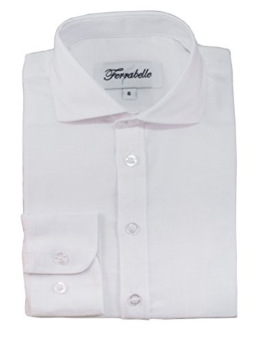 Boys' Long Sleeve Dress Shirt Oxford Cotton Blend By Ferrabelle
