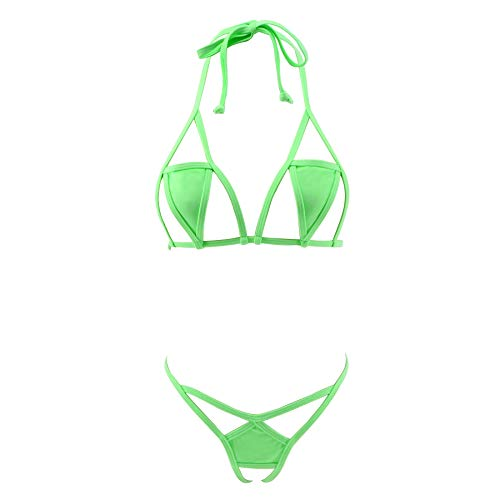 Crotchless Bikini - SHERRYLO 2018 New Various Style Micro Bikini Exotic Swimming Costumes Swimsuit for Women (Green2)