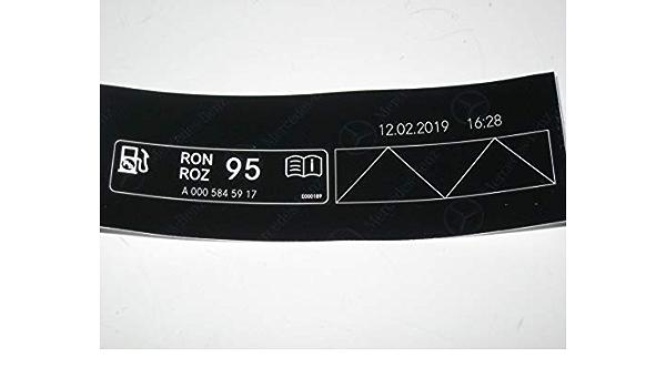 Mercedes Fuel Petrol Grade Octane Rating 95 RON Label ...
