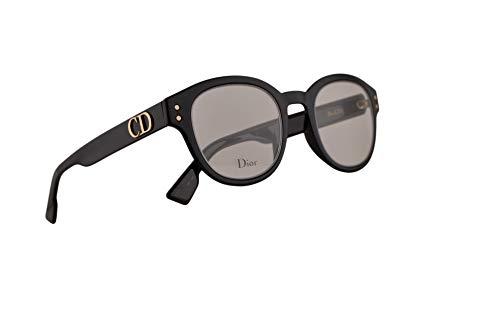 Christian Dior DiorCD2 Eyeglasses 46-22-145 Black w/Demo Clear Lens 807 ()