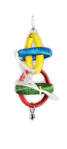 Prevue Pet Products Tropical Teasers Sisal Hoops Bird Toy, Multicolor