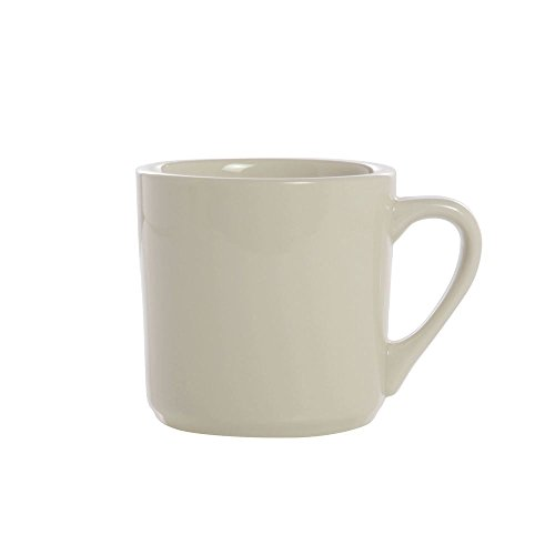 Buffalo Cream White Rolled Edge Undecorated Empire Mug, 14 Ounce -- 24 per case.