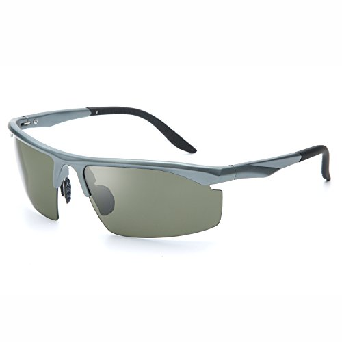 Joopin Fashion Men's Polarized Sunglasses Brand Man Outdoor Sport Driving Sun Glasses(Grey Frame Dark - Brand Name Sunglasses Discount