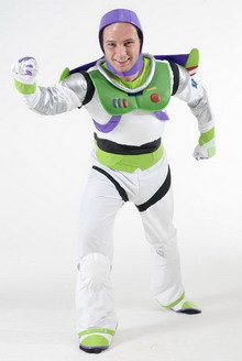 Buzz Lightyear Costume, Toy Story (STD) (disfraz): Amazon.es ...