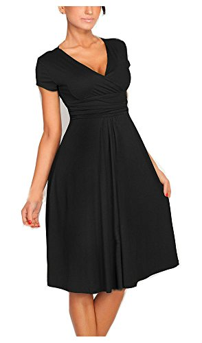 Womens Elegant V Neck Maternity Cocktail