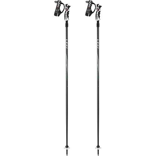 LEKI Erwachsene Skistock Hot Shot S, Base Color: Black/ Design: Silver-Anthracite-Red, 125 cm, 632-6747