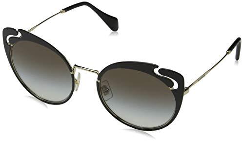 - Miu Miu Women's 0MU 57TS Pale Gold/Black/Grey Gradient One Size