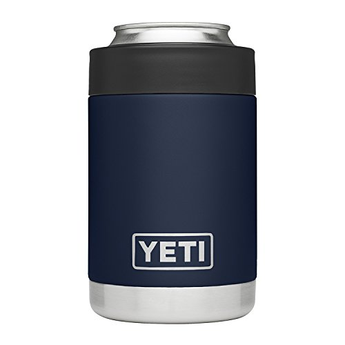 YETI Rambler Vacuum Insulated Stainless Steel Colster, Navy (Travel Beer Mug)