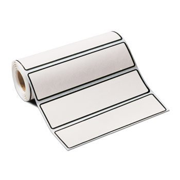 Carstens White Blank I.D. Roll of 200 Labels for 1 1/2″- 4″ Ringbinders
