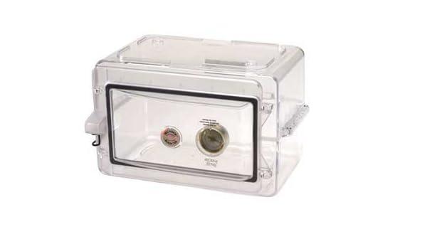 Bel-Art Products F42075-1000 Transparent Polystyrene Scienceware Secador Mini Desiccator Cabinet, 13.3
