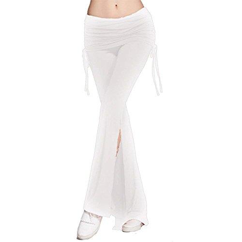 Moda Mode Bianca Monocromo Eleganti Pantalone Tempo Di Libero Jogging Marca Spacco Casual Primaverile Colpo Pantaloni Larghi Autunno Donna TxzzO01qf